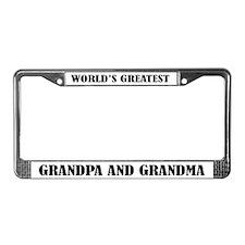 Grandpa and Grandma License Plate Frame