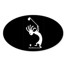 Kokopelli Golfer Oval Decal