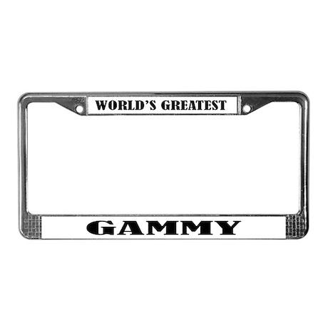 Gammy License Plate Frame