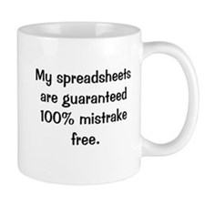 Funny Spreadsheets Office Quote Mug