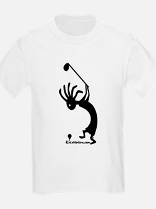 Kokopelli Golfer Kids T-Shirt