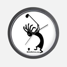Kokopelli Golfer Wall Clock