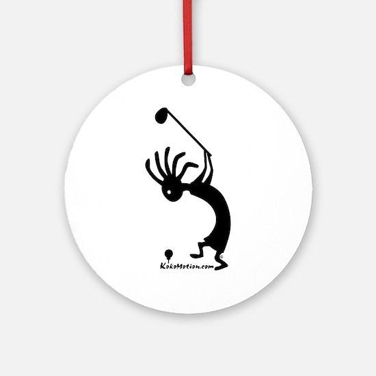 Kokopelli Golfer Ornament (Round)