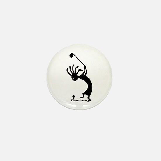 Kokopelli Golfer Mini Button