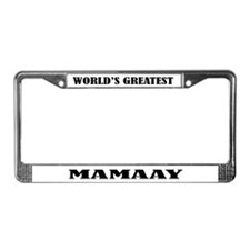 Mamaay License Plate Frame