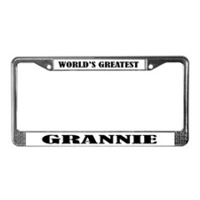 Grannie License Plate Frame Gift