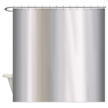 Metallic Silver Shower Curtain By GraphicAllusions