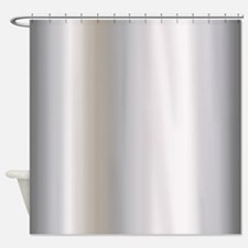 Metallic Silver Shower Curtain