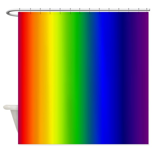 Colorful Rainbow Shower Curtain By GraphicAllusions
