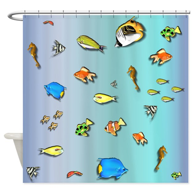 All the fish under the sea shower curtain by graphicallusions for All the fish in the sea