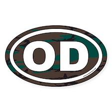 OD Euro Oval Sticke with Camo Background