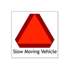Slow Moving Vehicle Sign - Rectangle Sticker