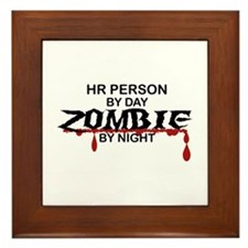 HR Person Zombie Framed Tile