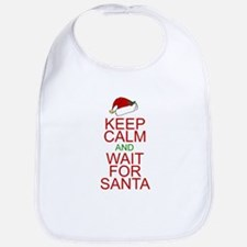 Keep calm Santa Bib
