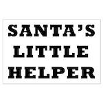 Santas little helper Large Poster