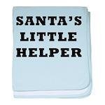 Santas little helper baby blanket