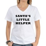 Santas little helper Women's V-Neck T-Shirt