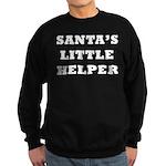 Santas little helper Sweatshirt (dark)