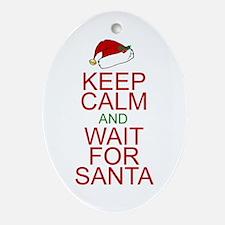 Keep calm Santa Ornament (Oval)