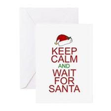 Keep calm Santa Greeting Cards (Pk of 20)