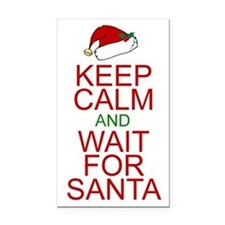 Keep calm Santa Rectangle Car Magnet