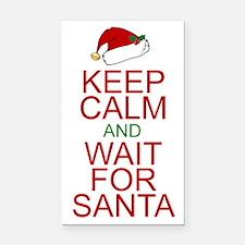 Keep calm Santa Rectangle Car Magnet