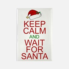 Keep calm Santa Rectangle Magnet