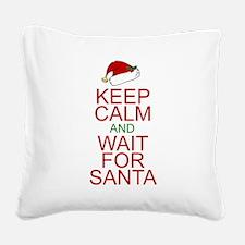 Keep calm Santa Square Canvas Pillow