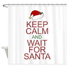 Keep calm Santa Shower Curtain
