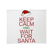 Keep calm Santa Throw Blanket