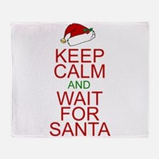 Keep calm Santa Throw Blanket