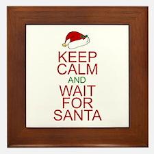 Keep calm Santa Framed Tile
