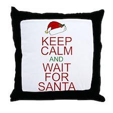 Keep calm Santa Throw Pillow