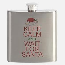 Keep calm Santa Flask