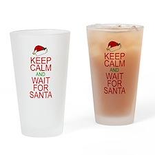 Keep calm Santa Drinking Glass
