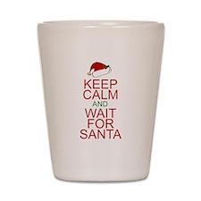 Keep calm Santa Shot Glass