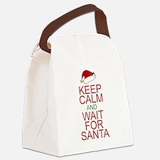 Keep calm Santa Canvas Lunch Bag