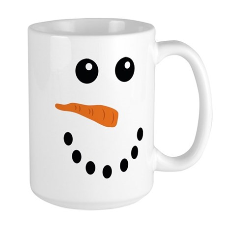 Snowman Face Large Mug