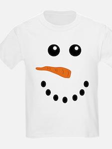 Snowman Face T-Shirt