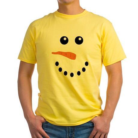 Snowman Face Yellow T-Shirt