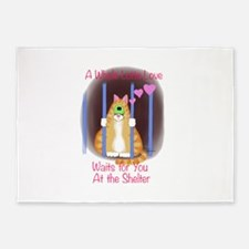 Shelter Cat 5'x7'Area Rug