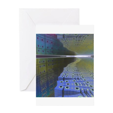 Fractal Cavern Greeting Card