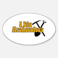 Archaeology Sticker (Oval)