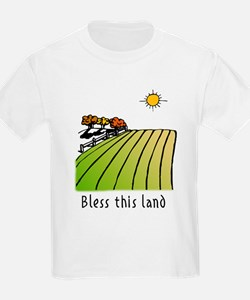 Bless this land Kids T-Shirt