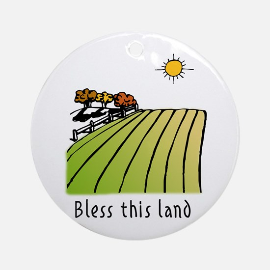 Bless this land Ornament (Round)