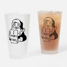 Santa doesn`t exist Drinking Glass