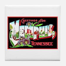 Memphis Tennessee Greetings Tile Coaster
