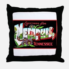 Memphis Tennessee Greetings Throw Pillow