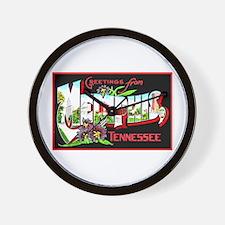 Memphis Tennessee Greetings Wall Clock