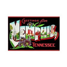 Memphis Tennessee Greetings Rectangle Magnet (10 p